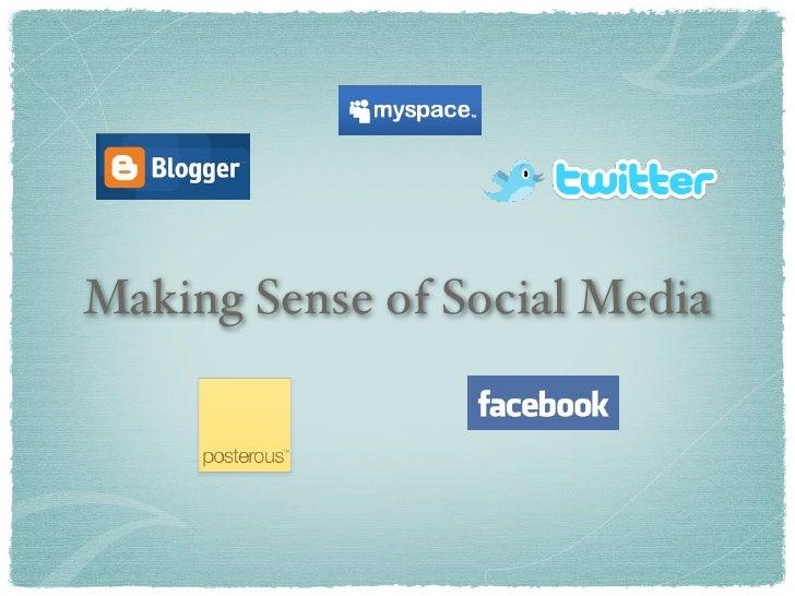 Making Sense of Social Media Slide 3