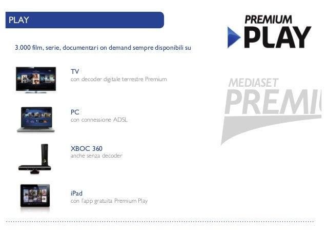 Palinsesto mediaset premium autunno inverno 2014 for Premium play su smart tv calcio live