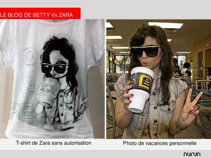 LE BLOG DE BETTY Vs ZARA     T-shirt de Zara sans autorisation   Photo de vacances personnelle