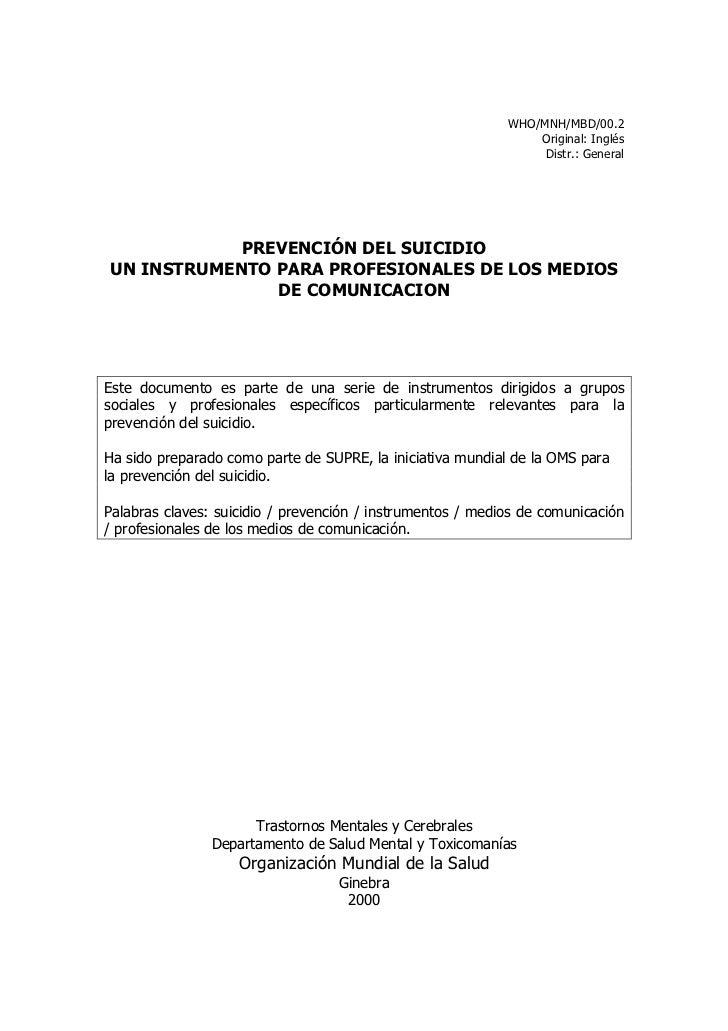 WHO/MNH/MBD/00.2                                                                Original: Inglés                          ...