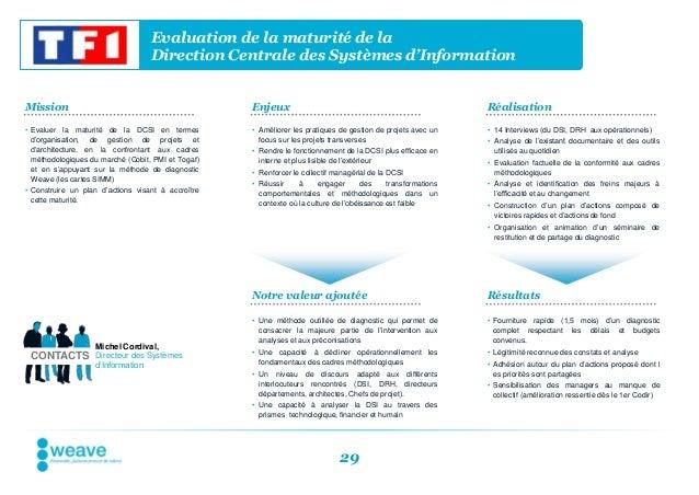 Evaluation de la maturité de la                                   Direction Centrale des Systèmes d'InformationMission    ...