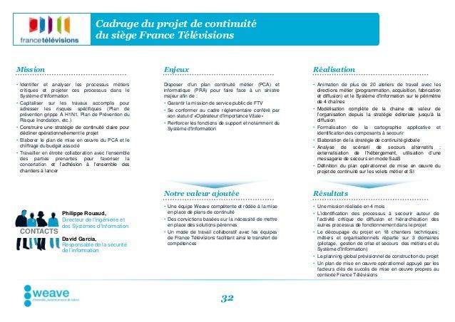Cadrage du projet de continuité                                     du siège France TélévisionsMission                    ...