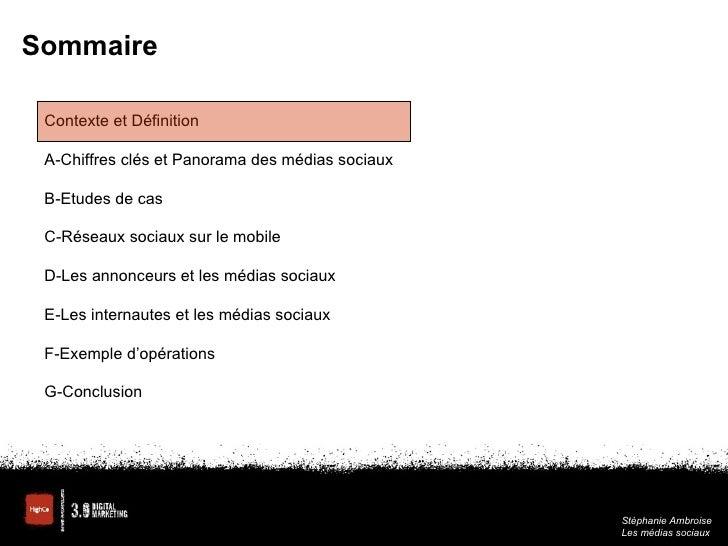 Medias Sociaux - Panorama et tendances Slide 2