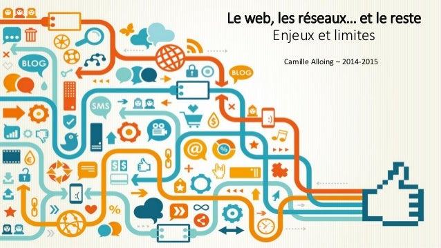 Le web, les réseaux… et le reste Enjeux et limites Camille Alloing – 2014-2015