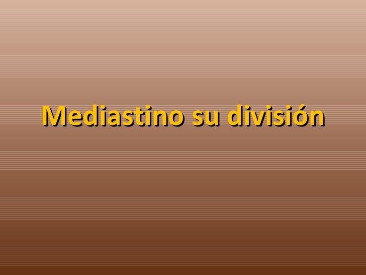 Mediastino su división