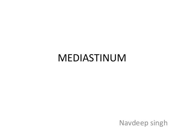 MEDIASTINUM Navdeep singh