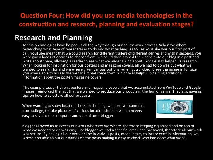 Media coursework evaluations