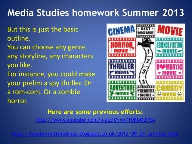 Studies on summer homework assignments