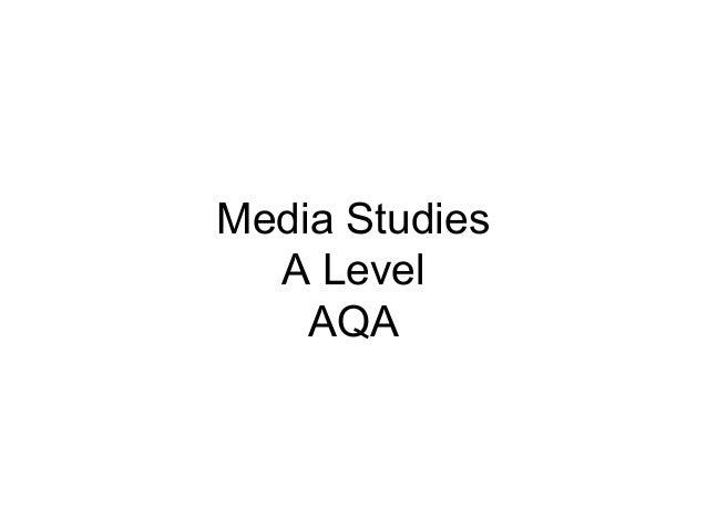 Media Studies A Level AQA