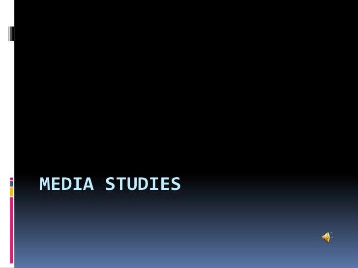 Media studies<br />