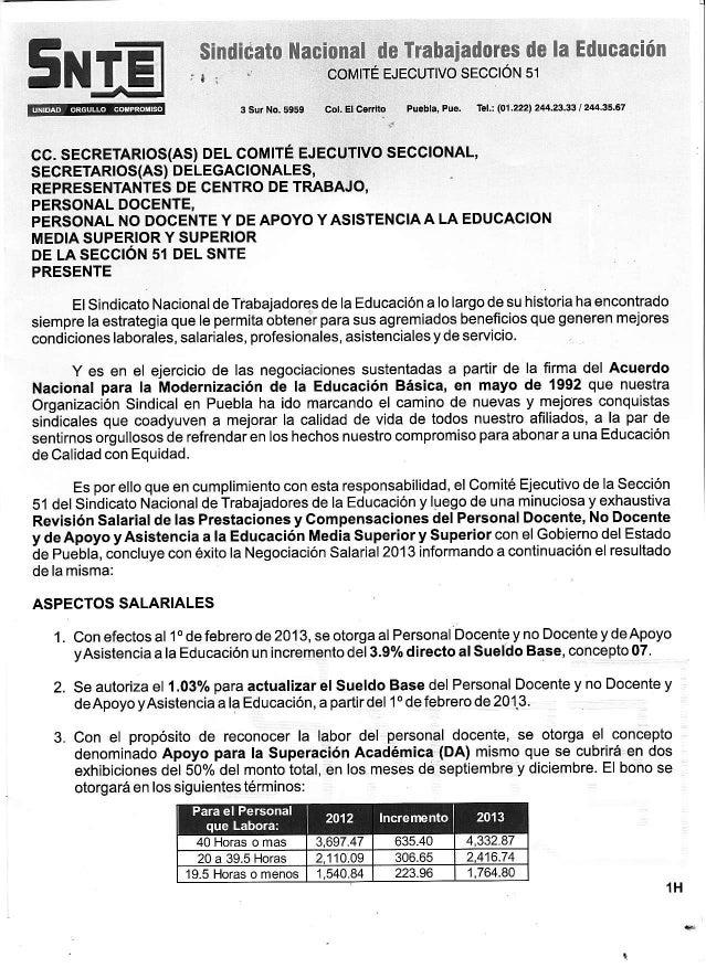 Negociación SEP-SNTE 2013 Media Superior Docentes y PAAE