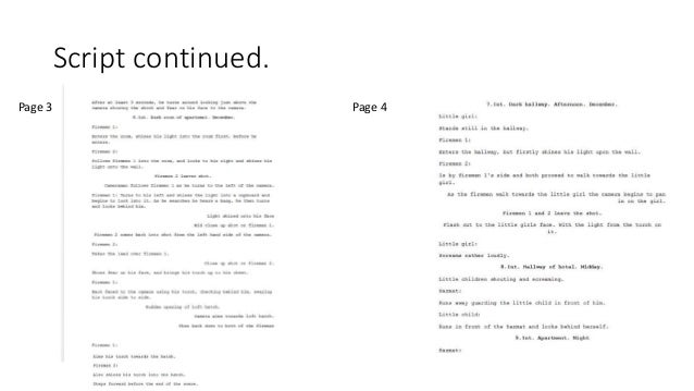 Script continued. Page 3 Page 4