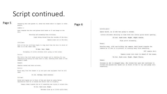 Script continued. Page 5 Page 6