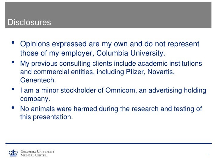 Media 101 for Clinicians and Scientists Slide 2