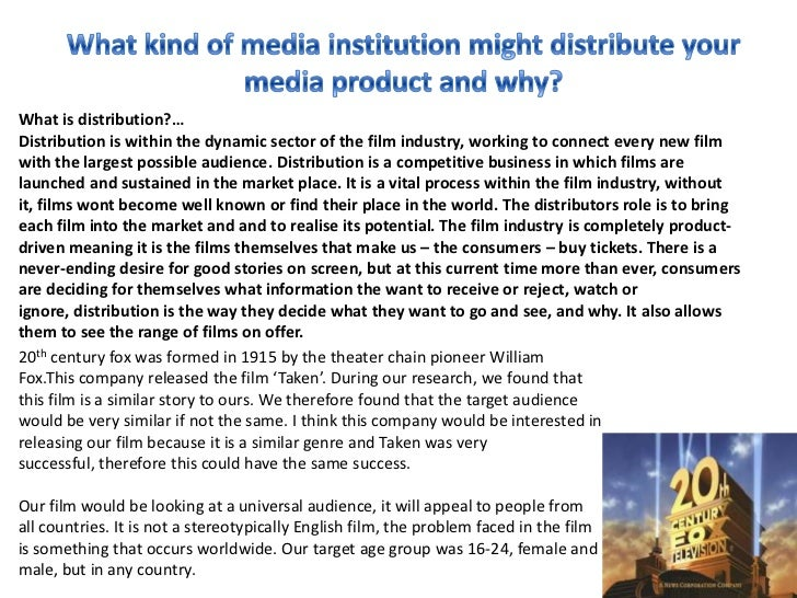What is distribution?…Distribution is within the dynamic sector of the film industry, working to connect every new filmwit...