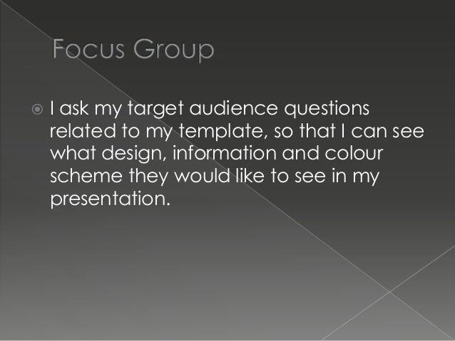 media template and focus group presentation, Presentation templates