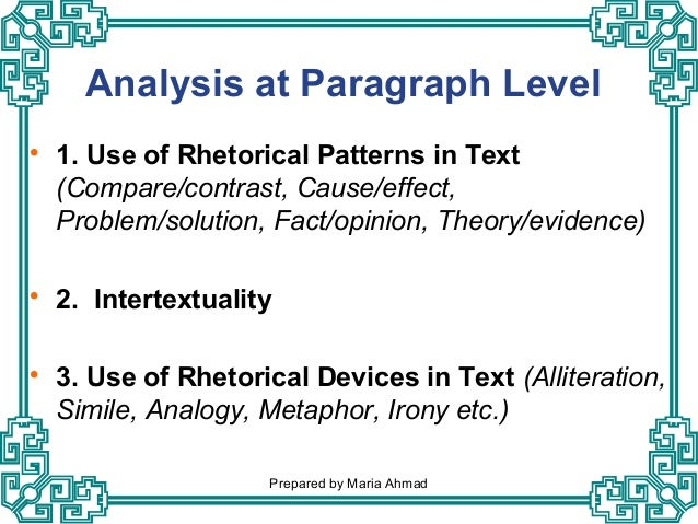 Analysis of media text