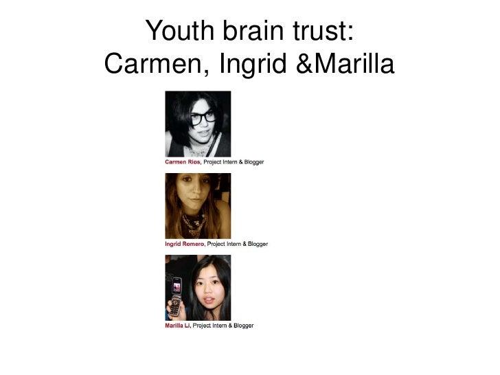 Youth brain trust:Carmen, Ingrid & Marilla<br />