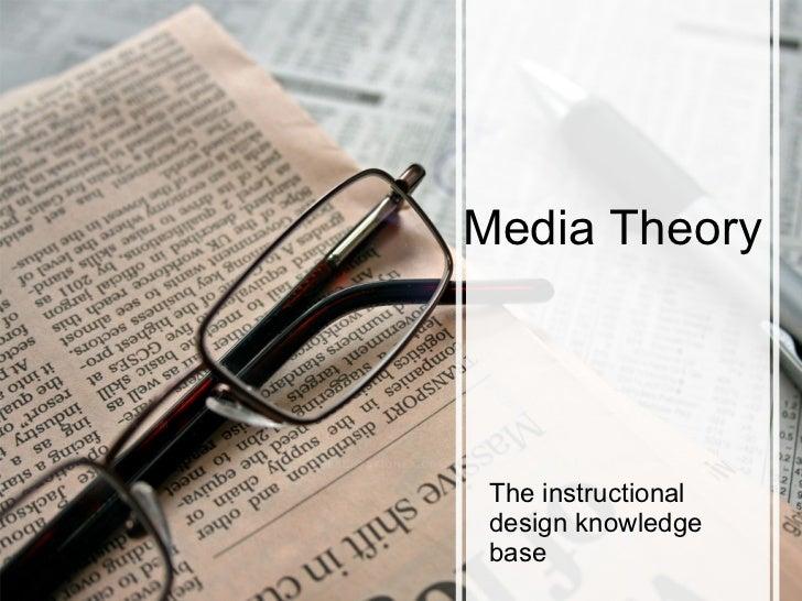 Media Theory The instructional design knowledge base