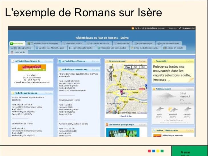 L'exemple de Romans sur Isère                                     6 mai