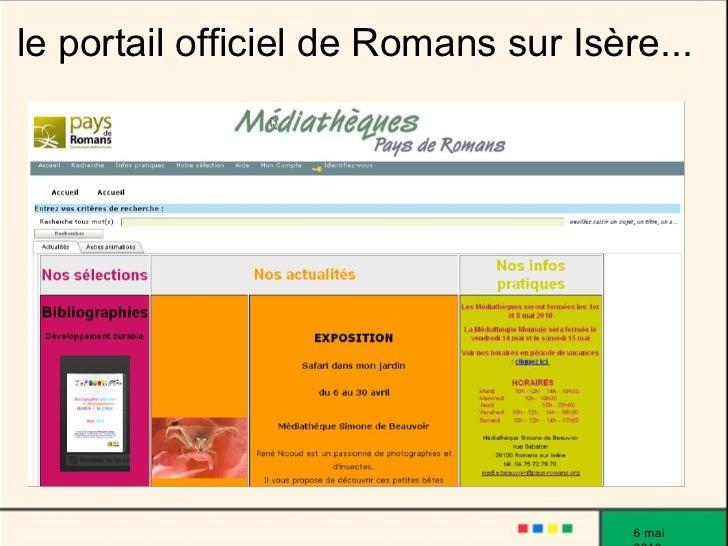 le portail officiel de Romans sur Isère...                                           6 mai