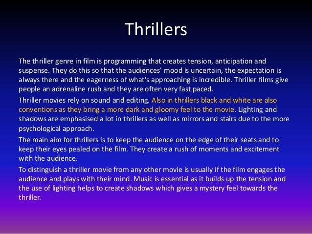 Thriller genre   Term paper Example