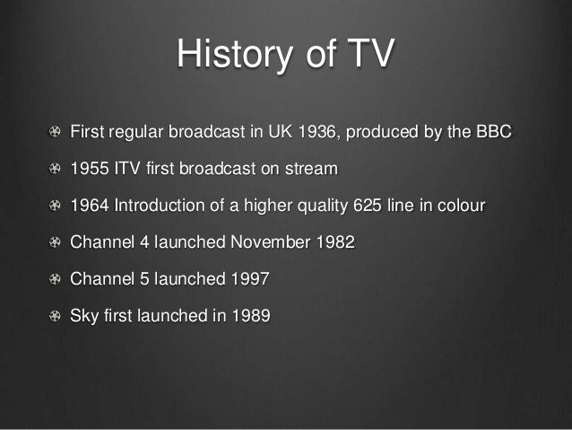 the history of television By mary bellis television was not invented by a single inventor, instead many people working together and alone, contributed to the evolution of tv.