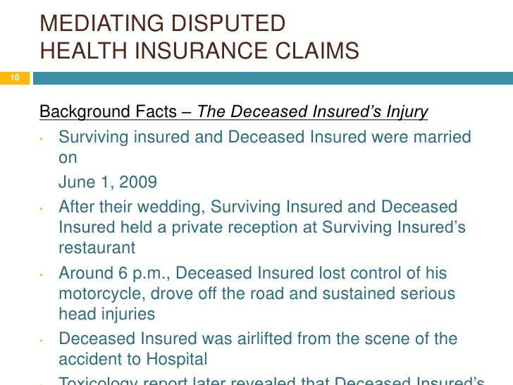 Mediating Disputed Health Claims