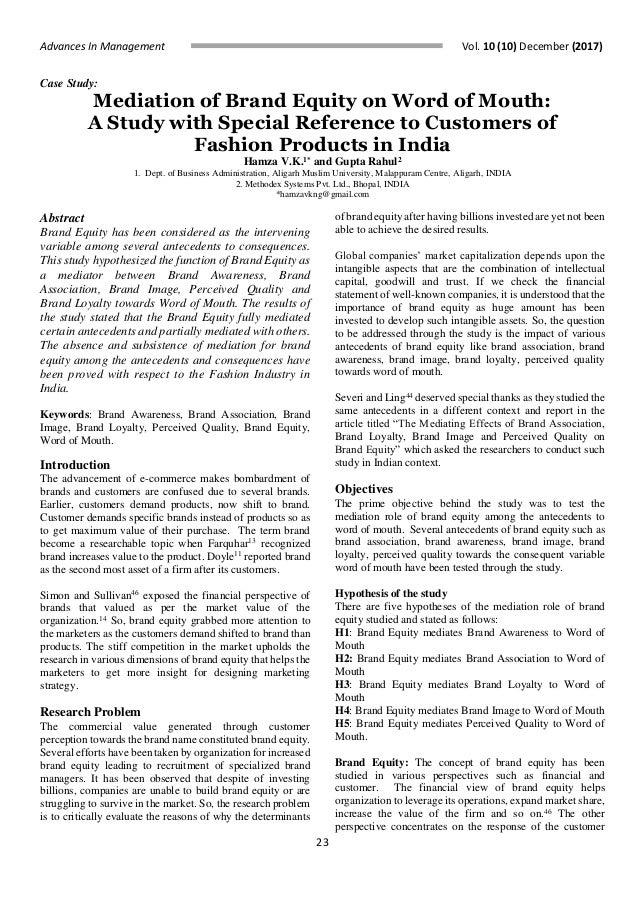 brand equity pdf