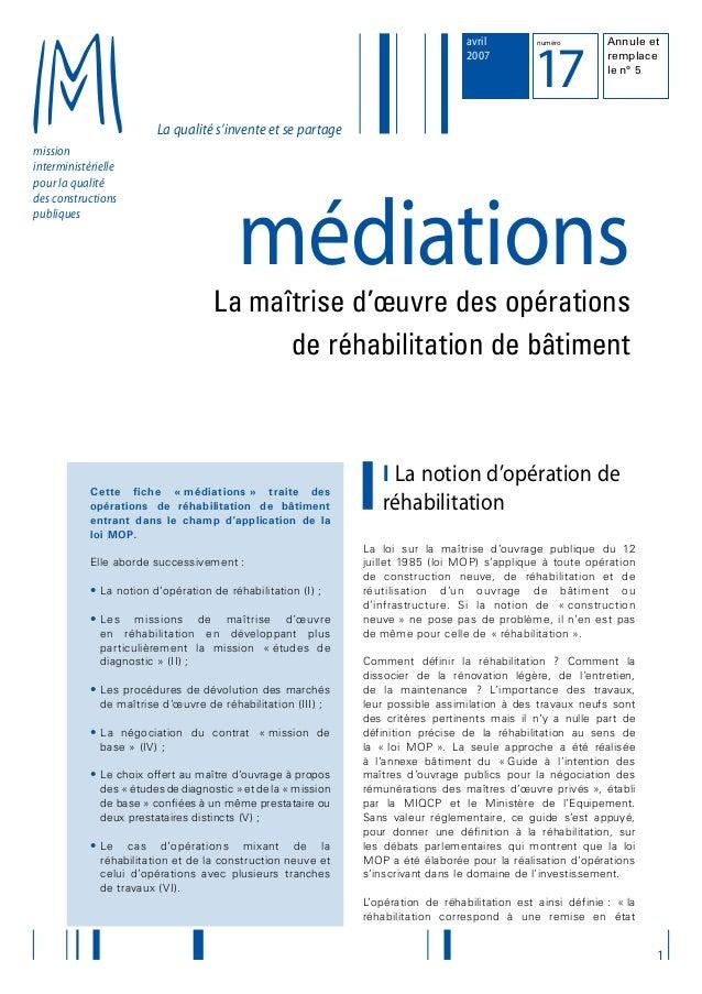 La qualité s'invente et se partage mission interministérielle pour la qualité des constructions publiques 1 avril 2007 num...