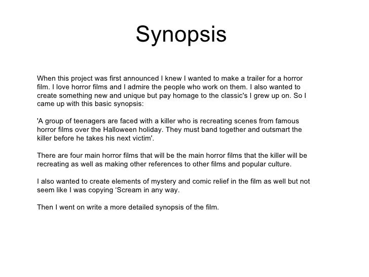 How To Write A 1-Page Synopsis