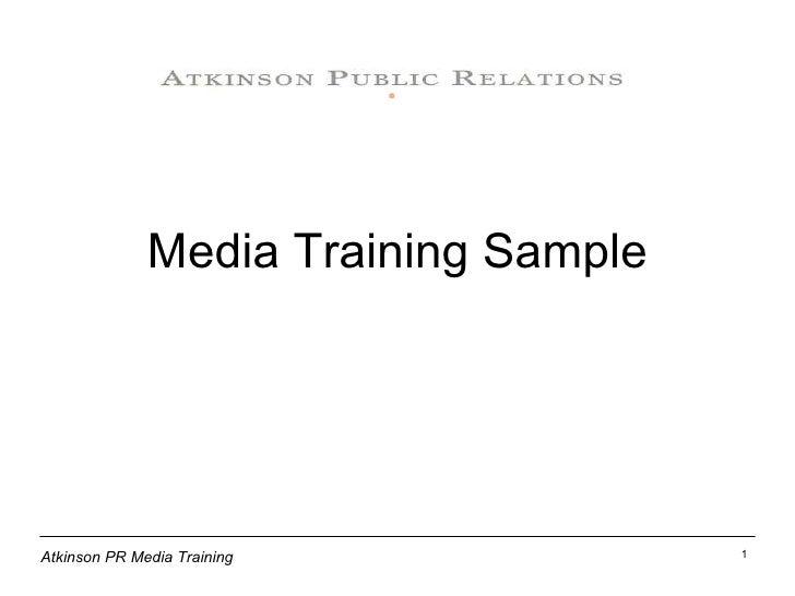 Media Training Sample