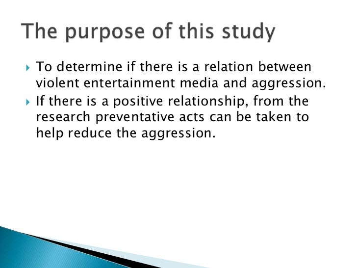 media and violence essay