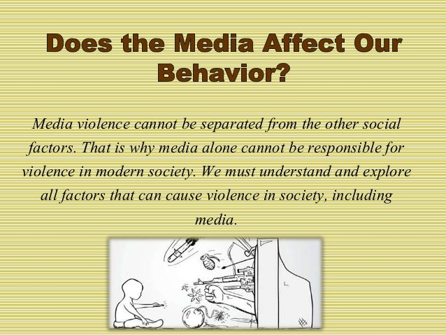 Violence in the media essay