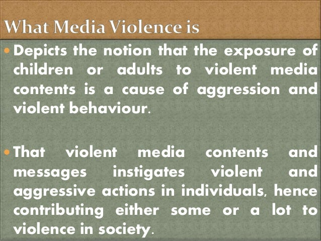 An analysis of violence in the media and its effects on society