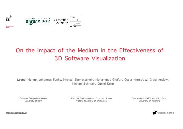 On the Impact of the Medium in the Effectiveness of 3D Software Visualization merino@inf.unibe.ch @leonel_merino Leonel Me...
