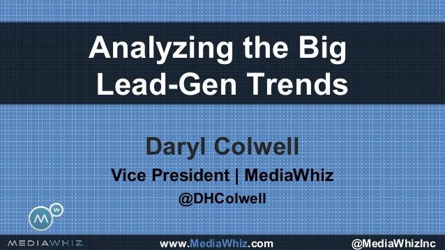 www.MediaWhiz.com @MediaWhizIncDaryl ColwellVice President   MediaWhiz@DHColwellAnalyzing the BigLead-Gen Trends