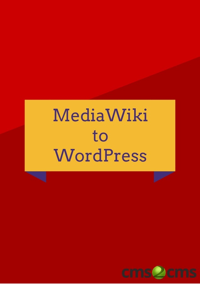 MediaWiki to WordPress