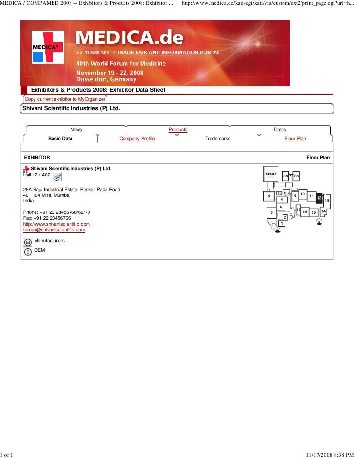 MEDICA / COMPAMED 2008 -- Exhibitors & Products 2008: Exhibitor ...          http://www.medica.de/kati-cgi/kati/vis/custom...