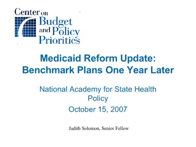 Medicaid Reform Update: Benchmark Plans One Year Later