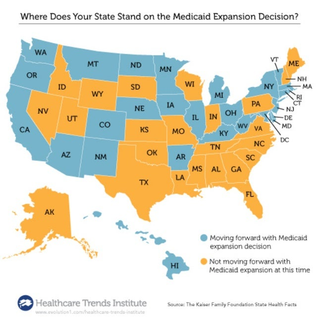 Where Does your State Stand in Medicaid Expansion? [Infographic] on