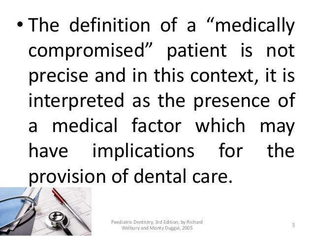 Medical conditions that can directly affect the provision
