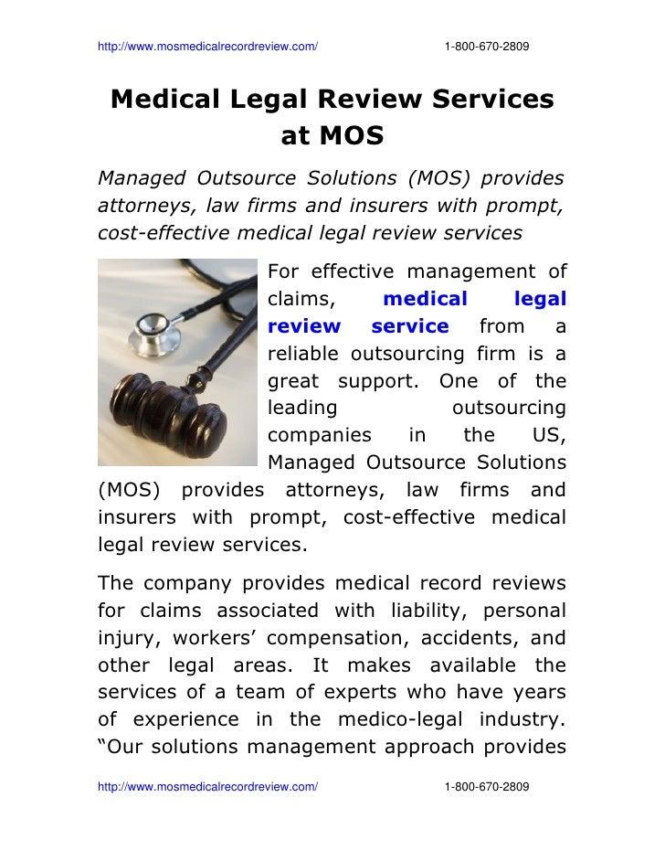 http://www.mosmedicalrecordreview.com/18006702809  Medical Legal Review Services ...