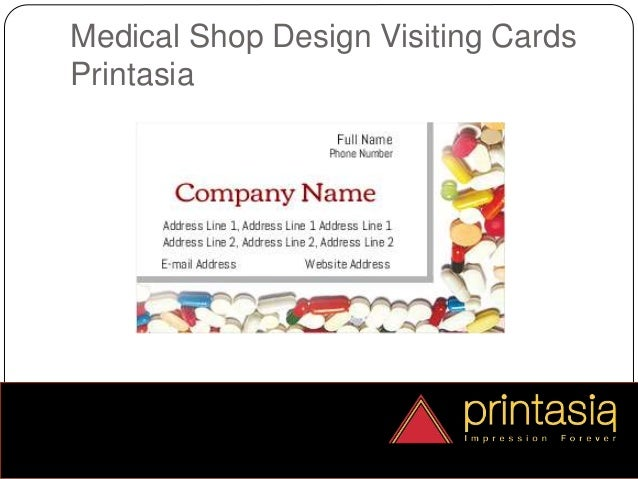 Medical shop visiting card samples online printasia reheart Gallery