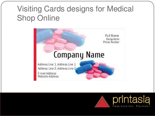 Medical shop visiting card samples online printasia medical shop visiting card design samples online 4 reheart Gallery