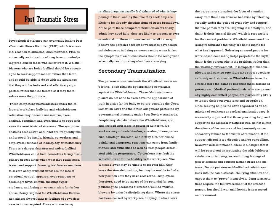Medical  Whistleblower  Brochures 19    Retraumatization Slide 2
