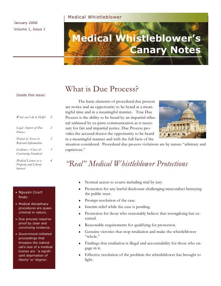 Medical Whistleblower January 2006 Volume 1, Issue 1                                    Medical Whistleblower's           ...
