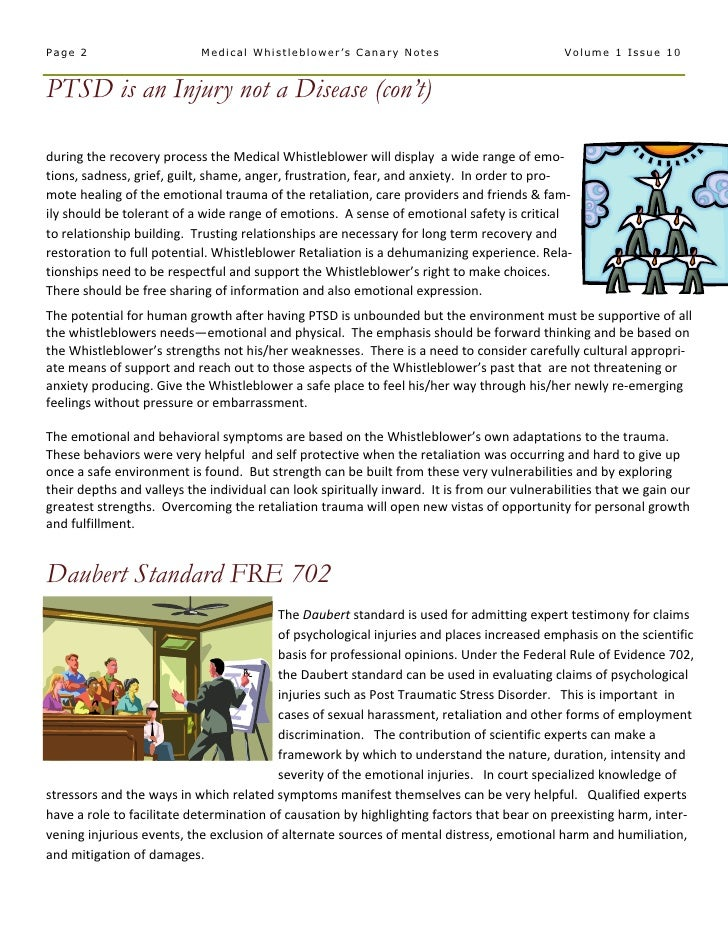 Medical  Whistleblower  Canary  Notes  Newsletter 10   P T S D  Inury Not  Disease   October 2006  Vol 1  Issue 10 Slide 2