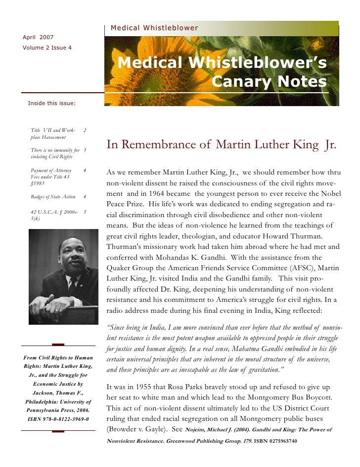 Medical Whistleblower April 2007 Volume 2 Issue 4                                       Medical Whistleblower's           ...