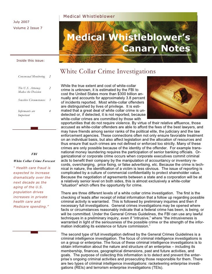 Medical Whistleblower July 2007 Volume 2 Issue 7                                      Medical Whistleblower's             ...